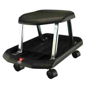 Mechanics Rolling Shop Seat With Storage Tray For Tools