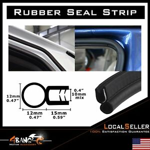 Auto Truck Rubber Seal Weatherstrip Protector Edge Trim Embellish Black 20ft