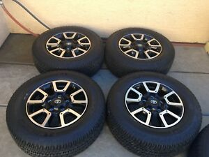 18 Toyota Tundra Off Road Oem Factory Wheels Michelin Tires Trd Off road