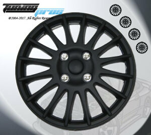 15 Inch Matte Black Hubcap Wheel Cover Rim Covers 4pc Style Code 611 15 Inches