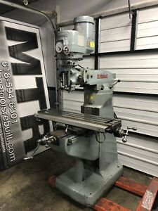 9 X 42 Variable Speed Bridgeport Vertical Milling Machine