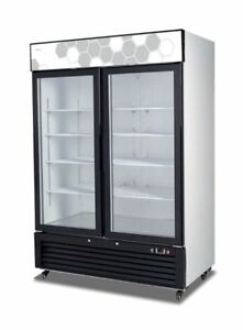 New Migali Double Glass Door Reach in Freezer 54 C 49fm Free Shipping