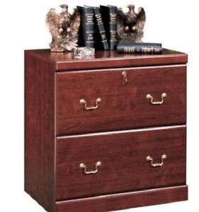 Cherry Filing Cabinet 2 Drawer Lateral Wood File Office Home Business Elegant