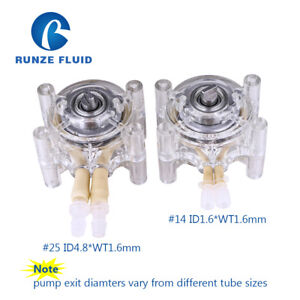 Small Flow Peristaltic Dosing Pump Head 6 Roller Tube 14 For Dc stepper Motor