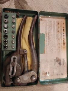 Vintage Whitney Metal Tool Co metal Punch No 5 Jr With Case Made In Usa
