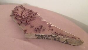 Antique 1800 s Hand Carved Wood Fashion French Fabric Printing Block Memorabilia