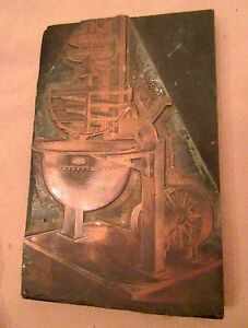 Rare Antique 1863 Engraved V Clad Sons Candy Machine Copper Print Block Mold