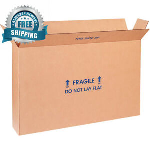 Partners Brand P22616fpfolms Flat Panel Tv Moving Boxes 22 Length X 6