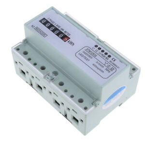 Three Phase Four Wire Meter Din rail Power Meter Kilowatt hour Meters Energy
