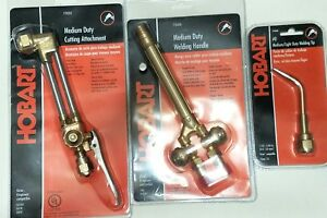 New Hobart Victor Style Cutting Welding Torch Set Attachment Handle Brazing Tip