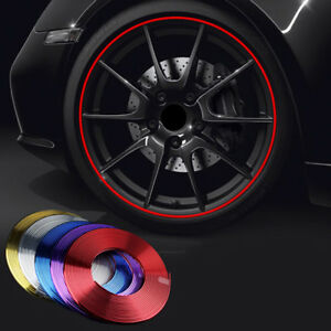8m 26 24ft Plating Car Wheel Hub Rim Mouldings Strips Protector Ring Sticker