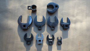 Snap on 3 8 drive Sae Open End Crowfoot wrench Set