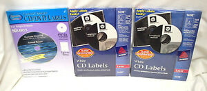 3 boxes Asst d Brands Of White Cd dvd Labels 250 Labels Total nib s8705