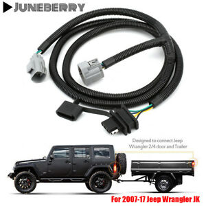 65 Trailer Tow Hitch Wiring Harness Kit 4 Way For 07 17 Jeep Wrangler Jk 2 4 Ej