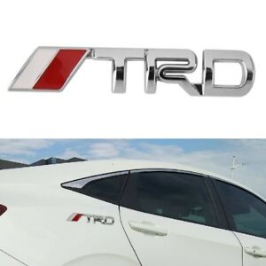 3d Metal Trd Emblem Badge Auto 3d Metal Car Sticker Decal For Toyota
