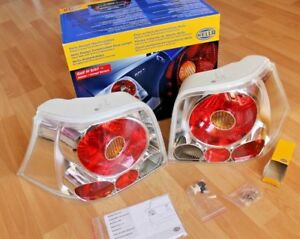 Vw Golf Mk4 Oem Bnwb Hella Crystal Clear Rear Euro Tail Lights Set Brand New