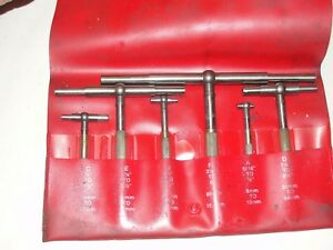 6 Pc Starrett Telescope Gage Set No S579hz