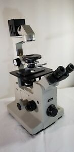 Nikon Diaphot Microscope With 5 Objectives Additional Power Supply