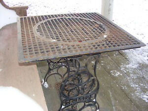 Antique Large Cast Iron 30 X 30 Cold Air Return Floor Grate Heat Register Table