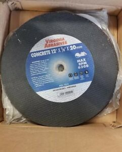 9 New Virginia Abrasive Saw Blades 14 Concrete Abrasive Blade 14 X 1 8 X 20mm