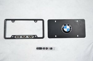 Bmw Metal Premium Licensed Plate Tag Custom For Car Or Room With Frame