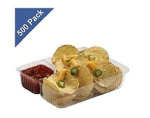 Concession Stand Supplies Nacho Cheese Trays Heavy Duty Plastic 500 Ct Food