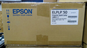 One Case Of Genuine Oem Epson Elplp50 Projector Lamps 10 Lamps Included New