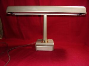 Antique Industrial Metal Fluorescent Desk Lamp 1930 S Push Button Retro Awesome