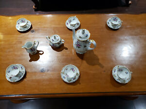 Vintage Fine China Coffee Tea Set Made In Gdr Germany