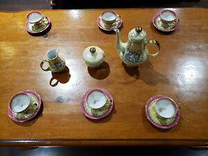 Vintage Fine China Coffee Tea Set Made In Gdr Germany Gold Trim