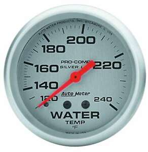 Auto Meter Pro Comp 2 5 8in Silver Liq fill Water 120 240 P n 4632