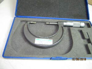 Brown Shape Blade Out Side Micrometer 1 2 Accuracy 0 001 No 436 4