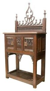 French Gothic Revival Sideboard 19th Century 1800s