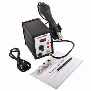 858d Hot Air Gun Smd Rework Station Iron Solder Soldering 110v us Ship