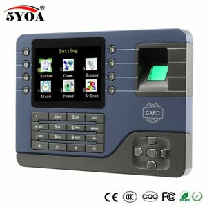 Tcp Ip Biometric Fingerprint Time Attendance Clock Recorder Employee Digital