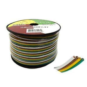 Flat Trailer Light Cable Wiring Harness 100 Feet 14 Awg Wire Cca