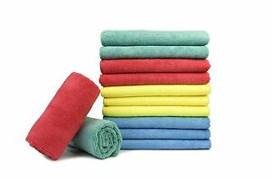 12x Microfiber Towels Auto Cleaning Car Detailing Cloth Rag 16x16 Mix Any 2color