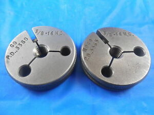 3 8 16 Nc Thread Ring Gages 375 Go No Go P d s 3380 3365 Inspection Tool