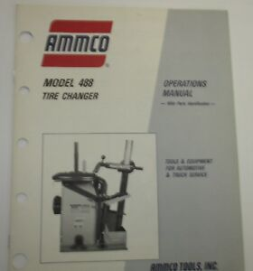 Used Ammco 488 Tire Changer Operations Manager