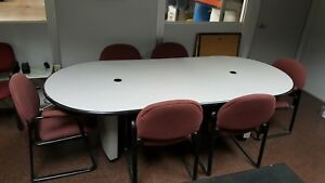 Conference Table With 6 Chairs