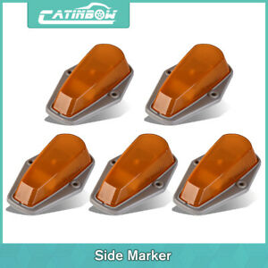 5pcs Amber Cover Clearance Cab Marker Light For Ford F 150 250 350