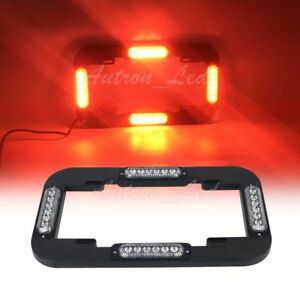 13 6 Led Red License Plate Lights Traffic Adviser Flash Strobe Security Signal