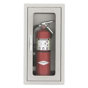 Bbqguys 14 inch Stainless Steel Flush Mount 10 Lb Fire Extinguisher Cabinet
