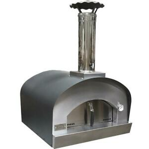 Sole Gourmet Italia 24 inch Countertop Outdoor Wood Fired Pizza Oven