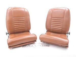 1970 S 1980 S Style Front Bucket Seats Brown Leather