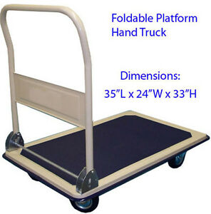 660lbs Folding Foldable Platform Hand Truck Utility Folding Truck Cart Dolly