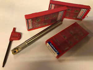 3 8 90 Degree Indexable End Mill W Apkt Inserts 30 Pcs