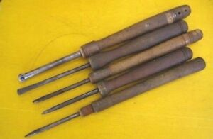 Rare Vintage Metal Spinning Tools 27 30 Set Of 5