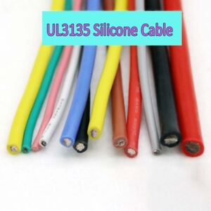 Coloured 10awg 30awg Ul3135 Silicone Hook up Wire Copper Tinned Flexible Cable