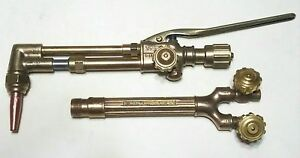 Victor Vintage Cutting Welding Torch Set Ca1450 Attachment 315 Handle Tip Smith